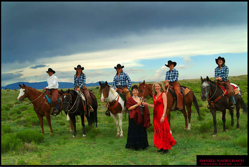 Men and Women on Horseback | Santa Fe Chamber of Commerce | Santa Fe, NM